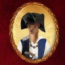 Portuguese Warren Hound Jewelry Brooch Handcrafted Ceramic - Pirate