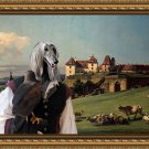 Afghan Hound Fine Art Canvas Print - Falconer and Castle