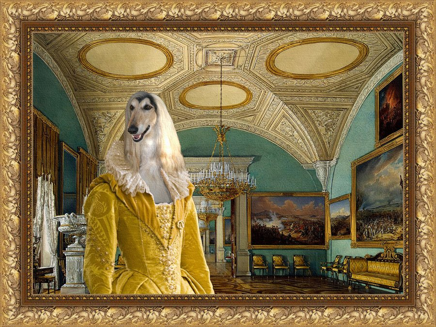 Afghan Hound Fine Art Canvas Print - Lady's Favorite Room