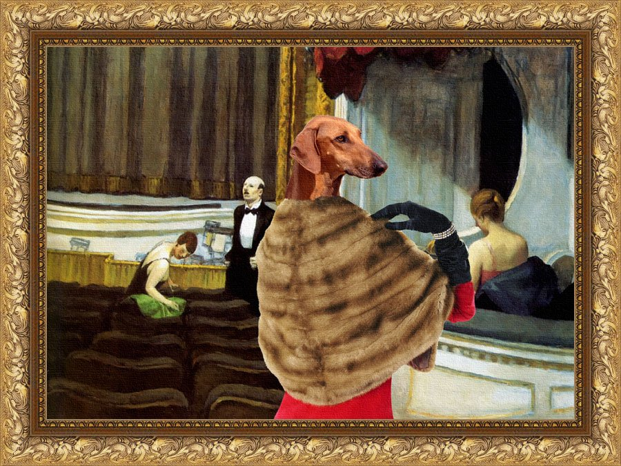 Azawakh Fine Art Canvas Print - Intermezzo in the Theater