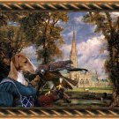 Azawakh Fine Art Canvas Print - Falconer Lady