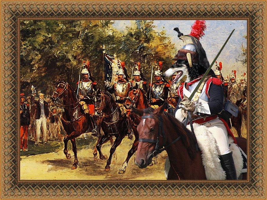 Borzoi Fine Art Canvas Print - The pride of Cuirassiers