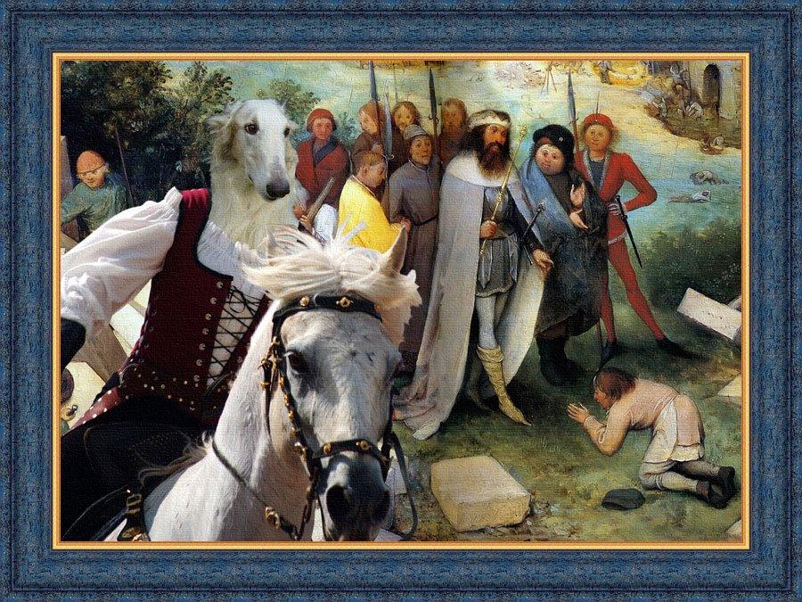 Borzoi Fine Art Canvas Print - The Road for Babel