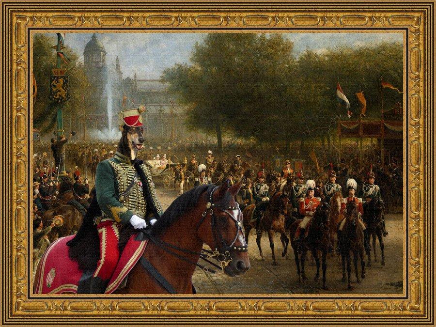 Chart Polski Fine Art Canvas Print - The pride of the imperial quard