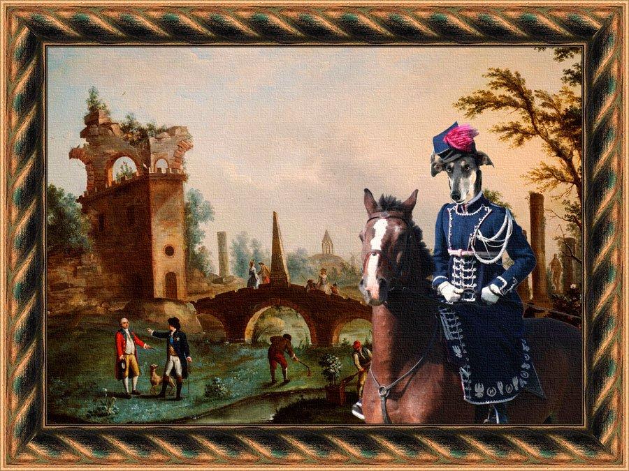 Chart Polski Fine Art Canvas Print - Afternoon horse ride