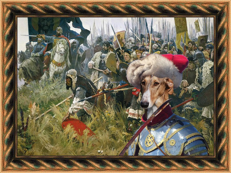 Chart Polski Fine Art Canvas Print - For glory and land