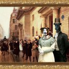 Greyhound Fine Art Canvas Print - Town