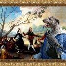 Irish Wolfhound Fine Art Canvas Print - Falconer sees Manuet's dance