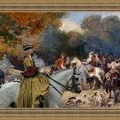 Italian Greyhound Fine Art Canvas Print - Hunting Society