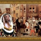 Saluki Fine Art Canvas Print - Knight return from the Battle