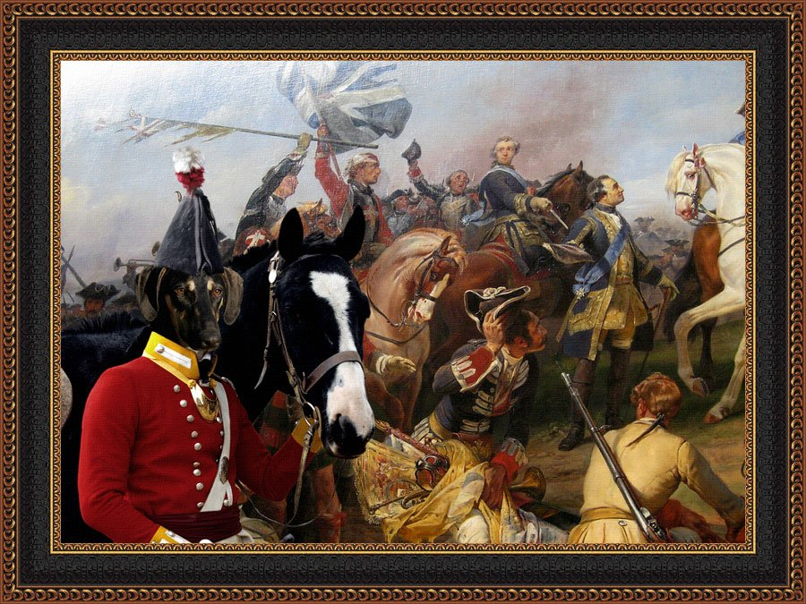 Sloughi Fine Art Canvas Print -  General arrival on the Battlefield