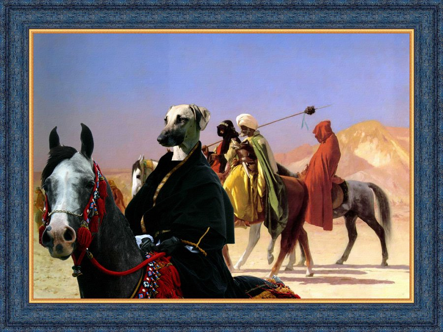 Sloughi Fine Art Canvas Print -  Crossing the Deserts
