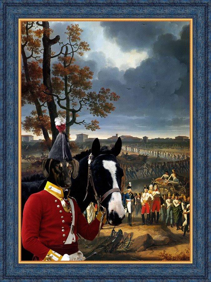 Sloughi Fine Art Canvas Print -  Before the last Assalt