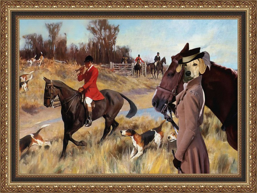 Sloughi Fine Art Canvas Print - The call to start Hunting