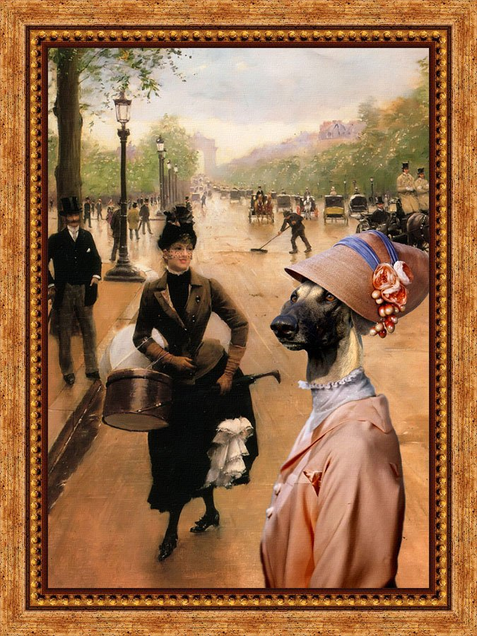 Sloughi Fine Art Canvas Print - The Modist in Champs Elysees