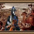 Spanish Greyhound Fine Art Canvas Print - The Battle and Cavalery