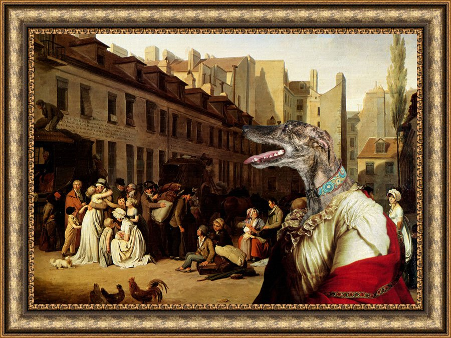 Spanish Greyhound Fine Art Canvas Print - Bon Voyage