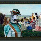 Whippet Fine Art Canvas Print - Sunday Afternoon