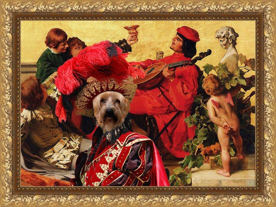 Silky Terrier Fine Art Canvas Print -  The happy boys