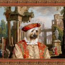 Silky Terrier Fine Art Canvas Print -  The ruins and noble man