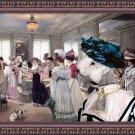 Bedlington Terrier Fine Art Canvas Print - Who has the best dress