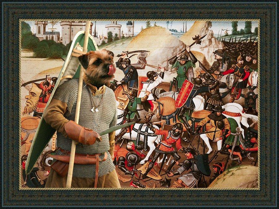 Border Terrier Fine Art Canvas Print - The happy Warrior