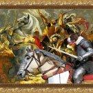 Bull Terrier Fine Art Canvas Print - The final battle