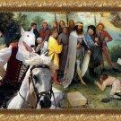 Bull Terrier Fine Art Canvas Print - The road for Babel