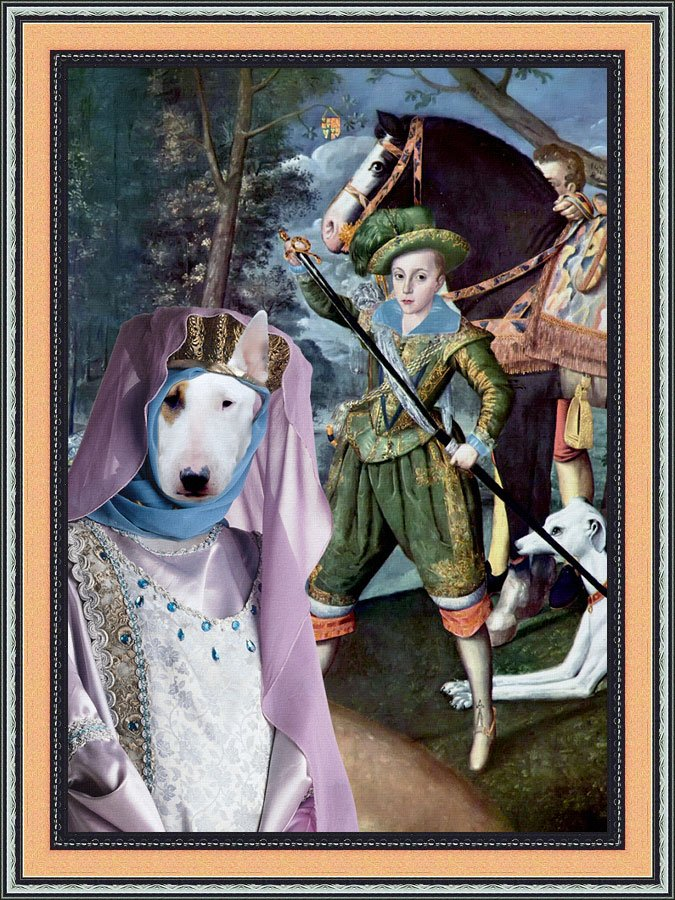 Bull Terrier Fine Art Canvas Print - My Lady