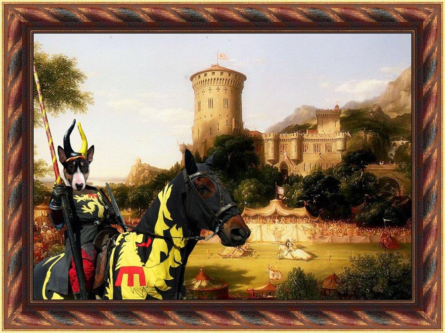 Bull Terrier Fine Art Canvas Print - The Past