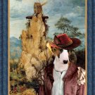 Bull Terrier Fine Art Canvas Print - The strange windmill