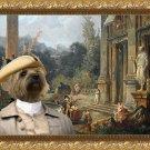 Cairn Terrier Fine Art Canvas Print - Garden Music