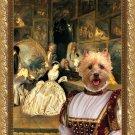 Cairn Terrier Fine Art Canvas Print - At the artdealer's shop
