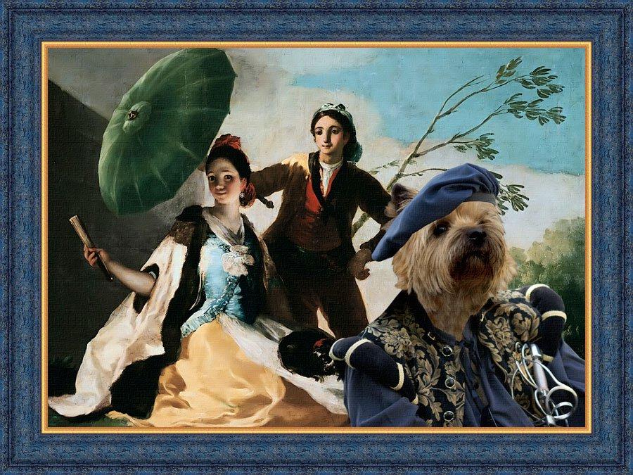 Cairn Terrier Fine Art Canvas Print -  Couple in love