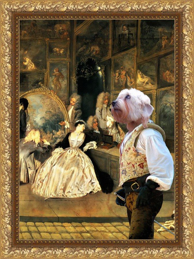 Dandie Dinmont Terrier Fine Art Canvas Print -  The last auction