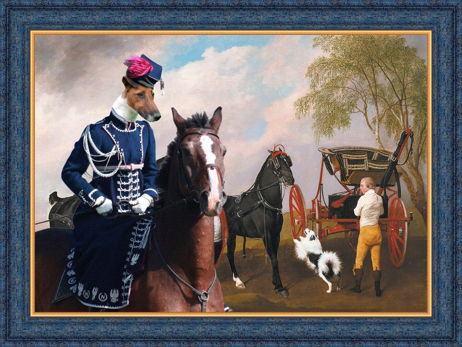 Fox Terrier Smooth Fine Art Canvas Print - The Prince of Wales's Phaeton