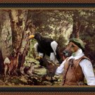 Fox Terrier Smooth Fine Art Canvas Print - Hunter with the eagle in the grove of roes