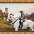 Irish Glen of Imaal Terrier Fine Art Canvas Print - Landscape