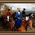 Irish Terrier Fine Art Canvas Print - Equistrian promenade