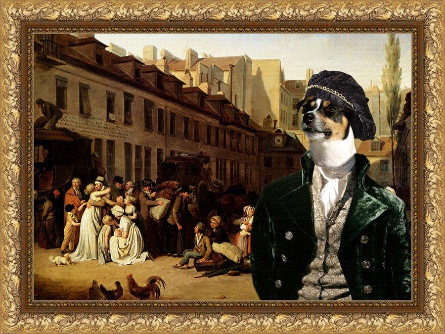 Jack Russell Terrier Fine Art Canvas Print - Bon Voyage