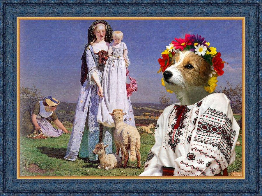 Jack Russell Terrier Fine Art Canvas Print - The Pretty Baa Lambs