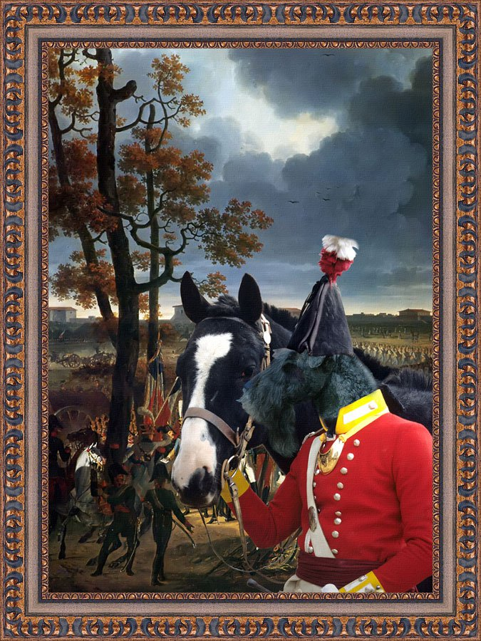 Kerry Blue Terrier Fine Art Canvas Print - Before the last assalt