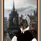 Kerry Blue Terrier Fine Art Canvas Print - Wating for the lover