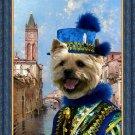 Norwich Terrier Fine Art Canvas Print - Rio St Barnaba Venice