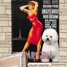 Bichon Frise Poster Canvas Print -  Une Parisienne