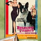 Boston Terrier Poster Canvas Print -  Breakfast at Tiffany's