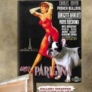 French Bulldog Poster Canvas Print -  Une Parisienne