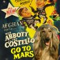 Afghan Hound Poster Canvas Print -  Abbott and Costello Go To Mars
