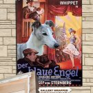 Whippet Poster Canvas Print - The Blue Angel