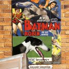 Whippet Poster Canvas Print -  Batman and Robin